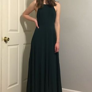 lulu's mythical kind of love forest green dress